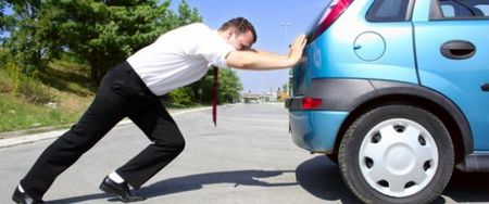 dont push your car when its broke down on the road. simply car our emergency team from car recovery abu dhabi